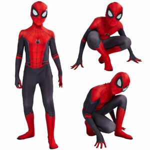 Kids Boys Spider-Man: Far From Home Spiderman Zentai Cosplay Costume Suit Outfit