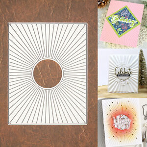 Radiating Rays Background w Sun Cutting & Embossing Die – Cutout Circle Center