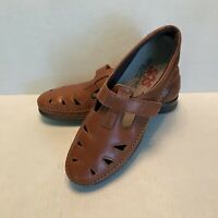 SAS  Roamer Tripad Comfort Womens Chestnut Brown Leather Casual Shoes Size 8