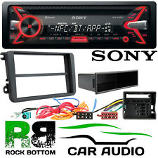 VW Polo MK5 2009 On SONY Bluetooth CD MP3 USB iPhone Car Stereo & Fascia Kit