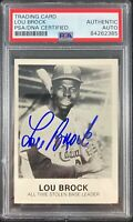 Lou Brock auto card 1984 Renata Galasso 269 St. Louis Cardinals PSA Encapsulated
