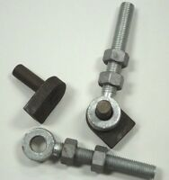 """Pair of Weld on Gate Hinge Pins with Eye Bolts 3/4"""" x 6""""/19 mm x 150 mm"""