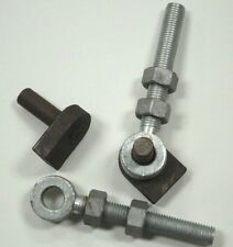 "Pair of Weld on Gate Hinge Pins with Eye Bolts 3/4"" x 6""/19 mm x 150 mm"