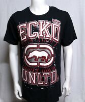 ☆NEW ECKO UNLTD.AUTHENTIC MEN'S SHORT SLEEVE  BLACK RED LOGO T-SHIRT SIZE LARGE