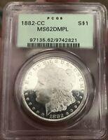 1882 CC Morgan Silver Dollar DMPL B&W CAMEO SUPER FROSTY DMPL MAJOR UNDERGRADE!