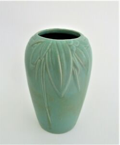 Old American Art Deco Arts and Crafts Art Pottery Vase