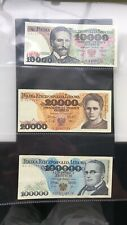 More details for 3 x polish note. 10 000, 20 000, 100 000