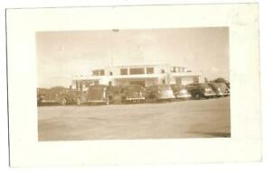 """PAN AMERICAN AIRLINES 1940's """"ENTRANCE BUILDING""""--SUPER REAL PHOTO VIEW~~~"""