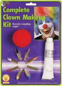 Complete Clown Makeup Kit Red Nose Fancy Dress Halloween Costume Accessory