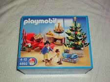 PLAYMOBIL 4892 CHRISTMAS LOUNGE WITH LIGHT UP TREE  NEW IN SEALED BOX