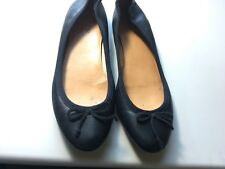 J. Crew Womens Shoes Black Leather Bow Ballet Flats Size 6