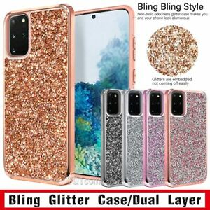 For Samsung Galaxy S20 5G S10 Note 10 Plus Bling Glitter Hard Phone Case Cover