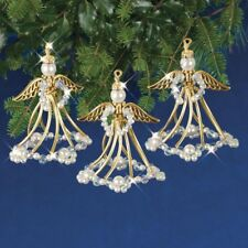 Holiday Beaded Ornament Kit GOLDEN ANGELS Ornaments Makes 3 NEW!
