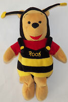 Bumble Bee Winnie Pooh Plush Bear Costume Stuffed Animal Toy Disney Bean Bag 9""