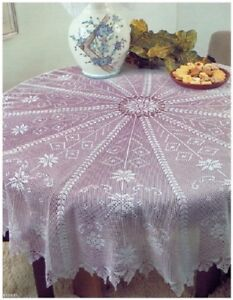 CROCHET PATTERN for a Christmas Star Tablecloth, Window Star & Doily 1189/11-13