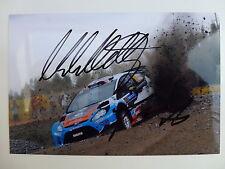 Mads Ostberg Firmado M-Sport Ford Fiesta WRC fotografía