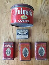 Vintage Tobacco And Coffee Tins