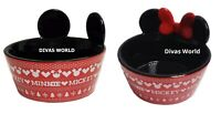 Mickey Minnie Pet Bowl Dog Cat Feeding Food Water Dish Xmas Gift Disney Primark