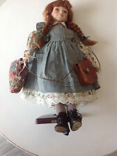"""Anne of Green Gables Doll 21"""" tall with original clothing signed 917 / 1000"""