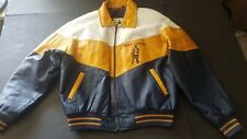 Vintage Mens Large West Virginia Mountaineers WVU Leather Jacket