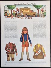 Betsy McCall Mag. Paper Doll, Betsy McCall's Town Fights Pollution, Sept. 1971