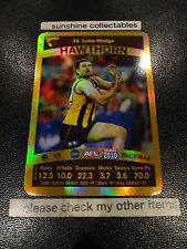 2010 AFL TEAMCOACH GOLD CARD HAWTHORN CARD NO.26 LUKE HODGE