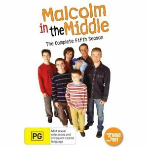 Malcolm in the Middle DVD Season 5 Series Five Fifth (3 DISC) RARE AUSTRALIAN R4