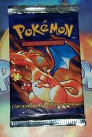 "1999 Pokemon Base Set ""Charizard Art"" Factory Sealed Booster Pack SPANISH"