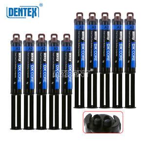 10 Kits Dentex Dental Dual Cure Flowable Color A2Composite Resin Core Build