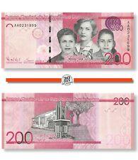 Dominican Republic 200 Pesos 2014 Unc Pn 191a