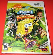 SpongeBob SquarePants Featuring Nicktoons: Globs of Doom Wii *New! *Free Ship!
