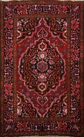 Vintage Geometric Traditional RED/NAVY 4x6 Bakhtiari Area Rug Wool Hand-knotted