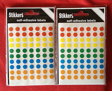 700 (2Packs) Sticky Coloured Dots 8mm Stickers Round Adhesive Spot Circle Labels