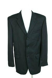 JONES NEW YORK black wool formal button-up men jacket blazer size EU L