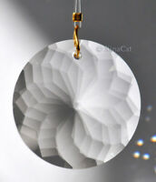 Round Sunburst 30mm Fancy Cut Crystal Prism Pendant 1-1/8 inches