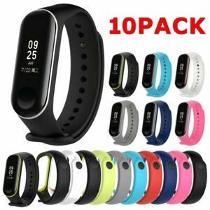 10*PCS/Pack Silicon Wristband Bracelet Watch Strap For Band 3 Replacement Band
