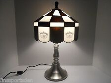 Rare JACK DANIEL'S Advertising Bar Lamp Light Old No.7 Tiffany-Style Glass Shade