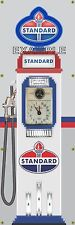 STANDARD OIL TOKHEIM OLD VINTAGE CLOCKFACE GAS PUMP BANNER SIGN MURAL ART 2'X6'