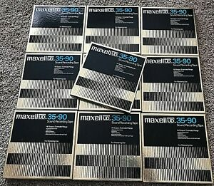 10 Maxell UD 35-90 Hi-Output Home Recorded Reel-To-Reel Recording Tapes 70s Rock