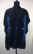 Plus Size Tunic Vest 1X 2X 3X 4X 5X One Size Black Blue Women Kaftan Shirt Rayon