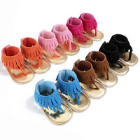 Toddler Girl Newborn Beach Sandals Summer Leather Moccasin Shoes Prewalker AU