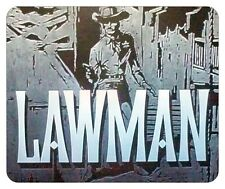 LAWMAN  MOUSE PAD. JOHN RUSSELL. WB TV LOGO.....NEW