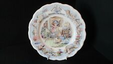 """BRAMBLY HEDGE 8""""25  RIGGING THE BOAT PLATE BONE CHINA 1st QUALITY"""