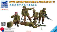 Bronco 1/35 35131 WWII British Paratroops In Combat Set B free shipping Hot