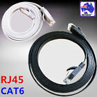 Black White Flat Network Cable RJ45 LAN Ethernet Cat6 1m 1.5m 2m 5m 10m ESIXW