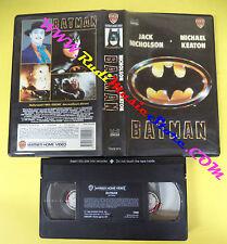 VHS film BATMAN 1990 Nicholson Keaton WARNER 12000 SVV FRANCESE (F140) no dvd