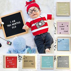1Set DIY Message Schedule Board Wooden Frame Felt Letter Board Home Office Decor