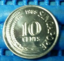 1985 Singapore 10 Cents Sea Horse Coin Uncirculated