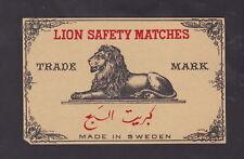 Ancienne étiquette de paquet allumettes Suède BN27080 Lion