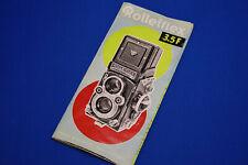 Rollieflex 3.5F Instruction Book  (H)